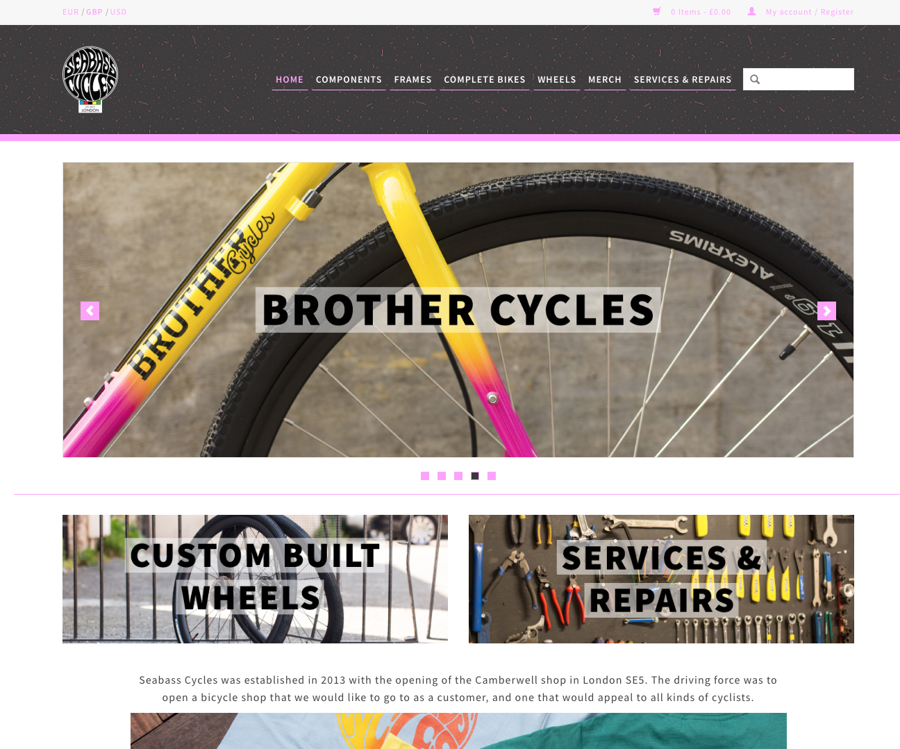 Online Shop - Selected Complete Bikes, Frames, Components & Merch - Available now!