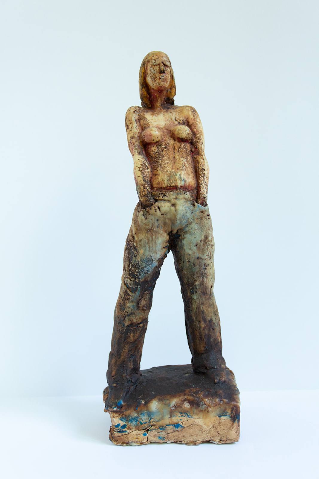 "Buddy Jackson ""Kristie statue, Woman with Jeans"" (View 1)"