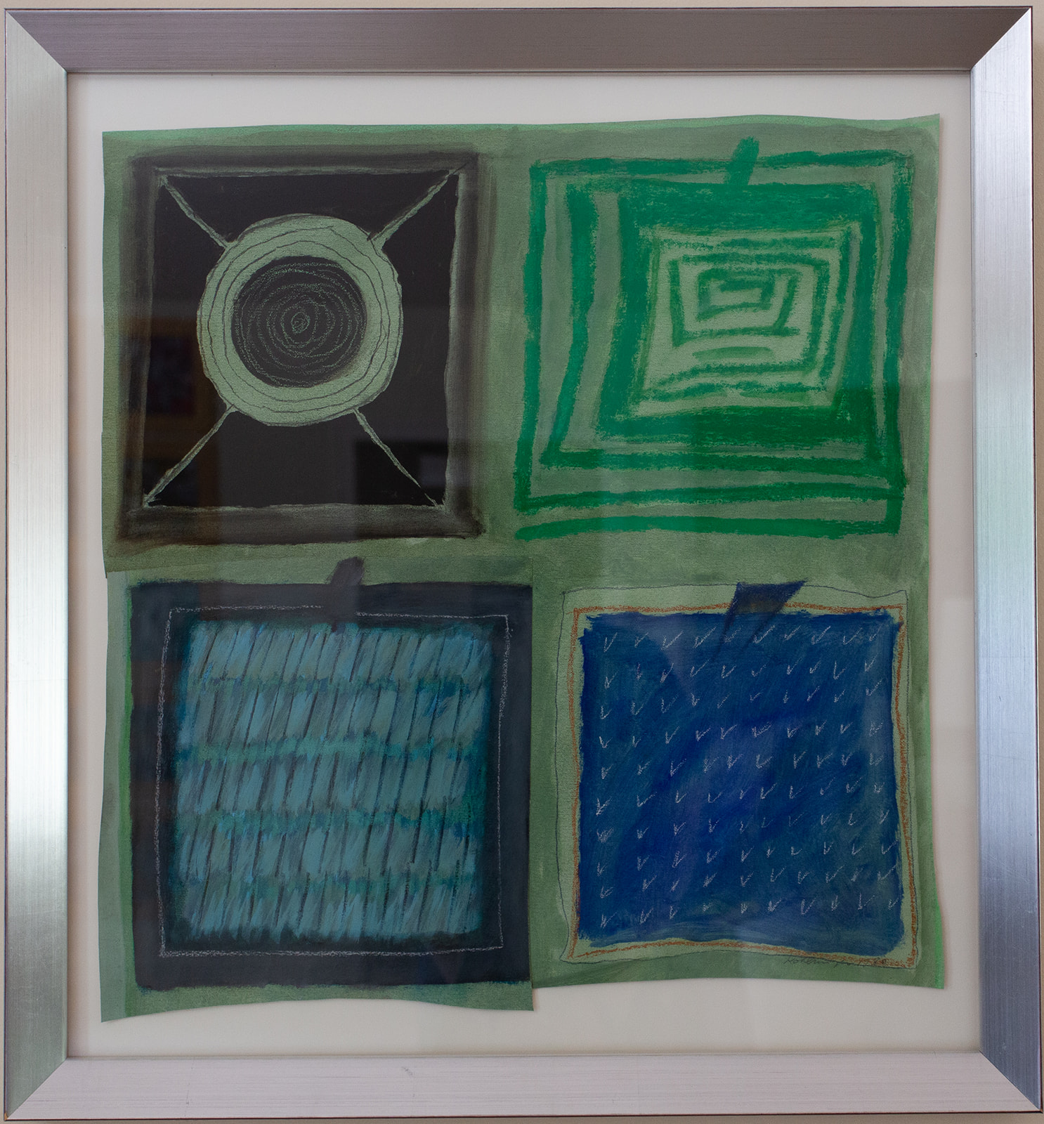 "Ida Kohlmeyer ""Blue & Green Collage #2"""