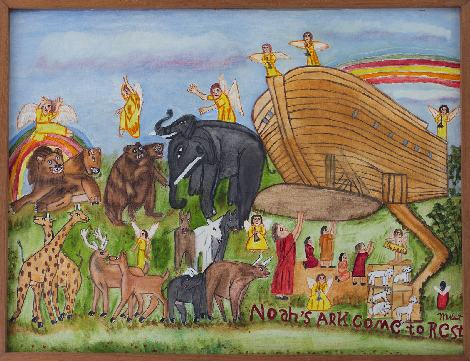 "SOLD: Myrtice West ""Noah's Ark Come to Rest"""