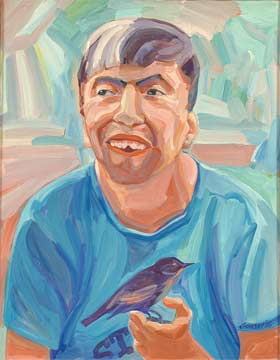 Manuel with Bird