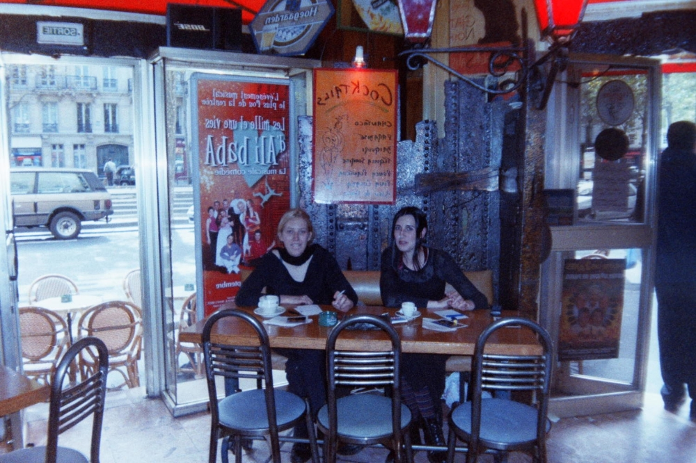 Pigalle, Paris. Coffee, cigarette, writing. Happy to see that my style hasn't changed in 19 years.