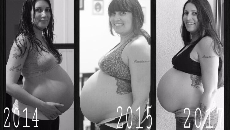 All taken at 36 weeks, looking at this makes me realise how insane we are.