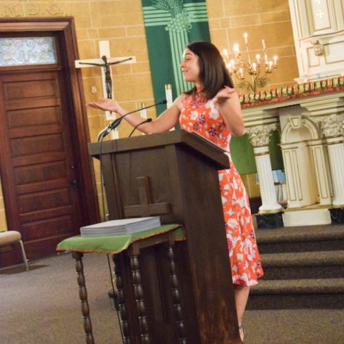 Faculty speaker Christine Primomo, STEAM