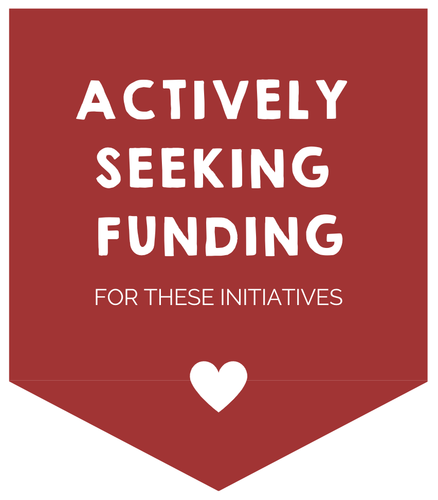 ACTIVELY SEEKING FUNDING for these initiative.