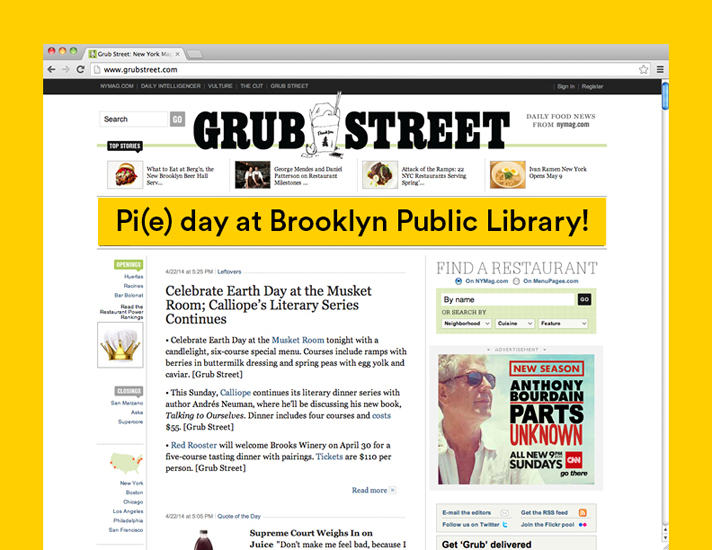 Campaign Placement in NY Mag & Grub Street