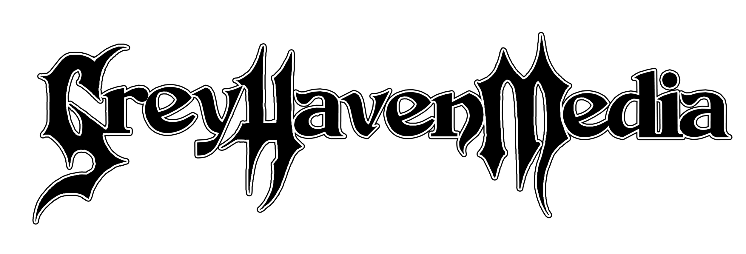 Grey Haven Media Logo B/W Outline