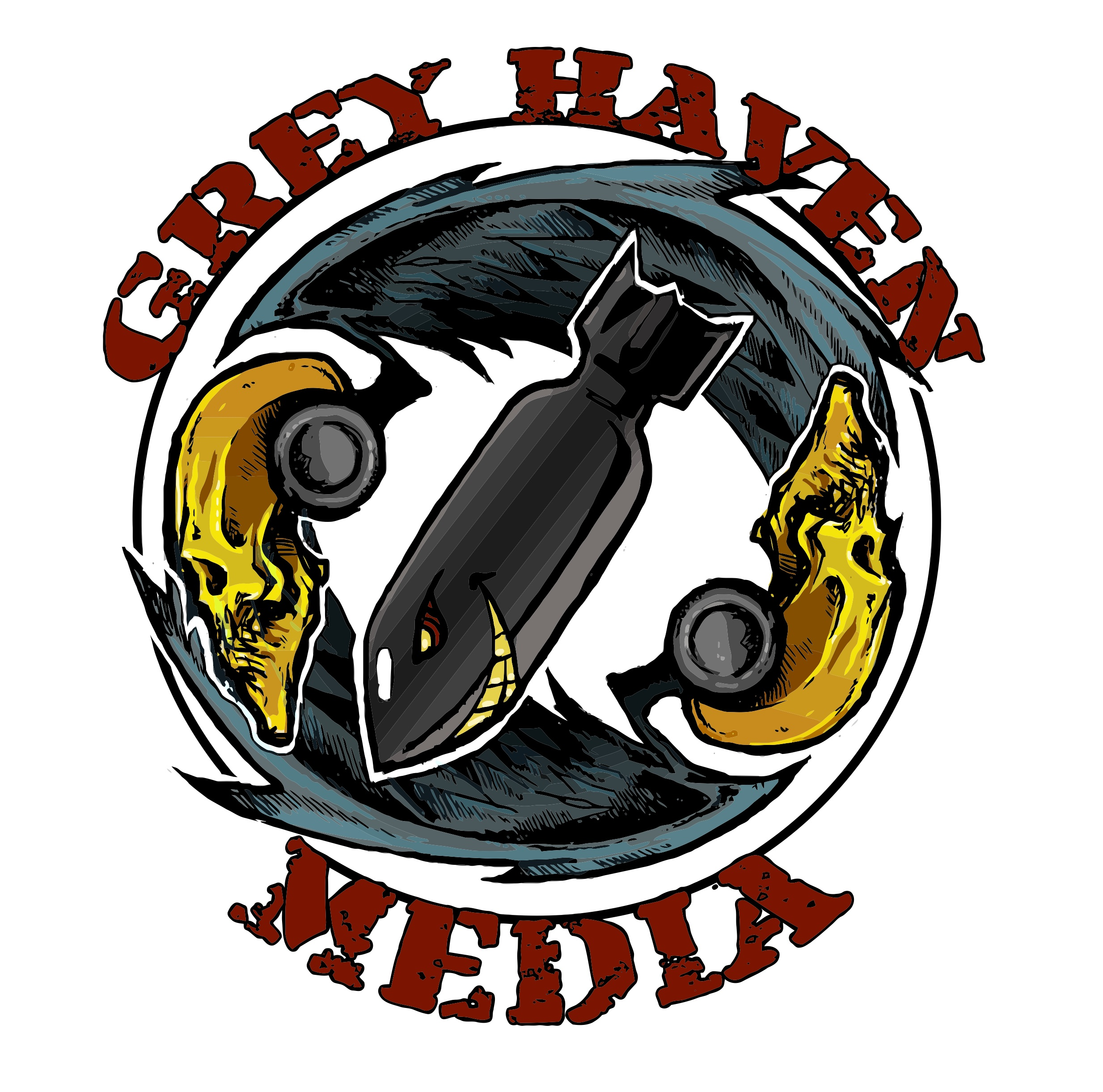 Grey Haven Media Bomber Color Logo