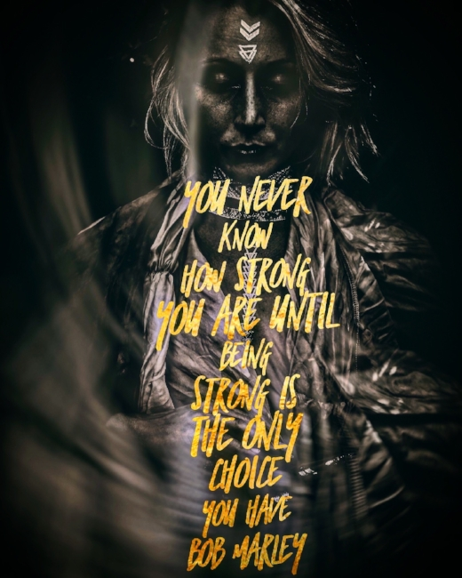 Gold Foil Bab Marley Quote Invisible Illness