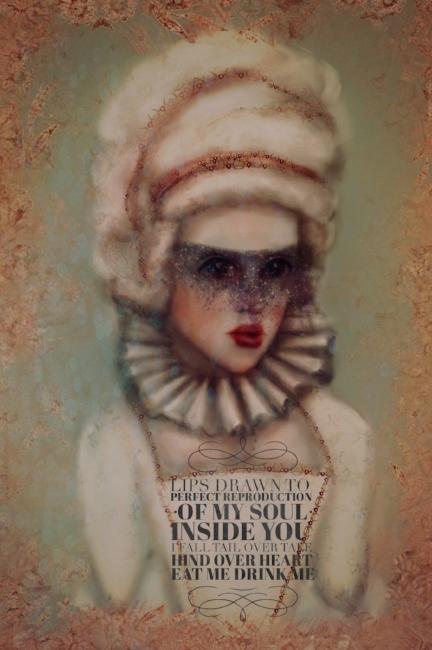 Goth Marie Antoinette Illustration