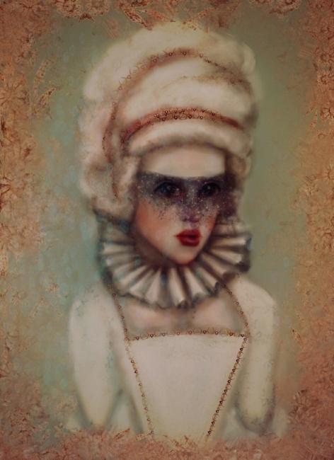 Goth Red Queen Alice In Wonderland Illustration By Disabled Artist