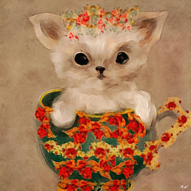 The Tea Cup Puppy Illustration That Started The Magic Picturebook