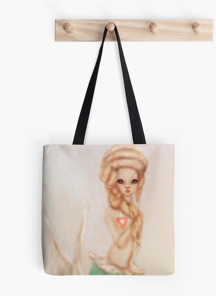 Marie Antoinette Hair Manga Mermaid Tote Bag