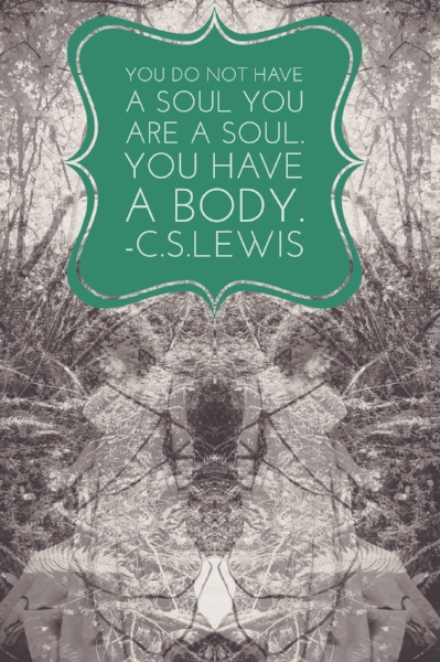 CS Lewis Quote With Surreal Black and White Photography