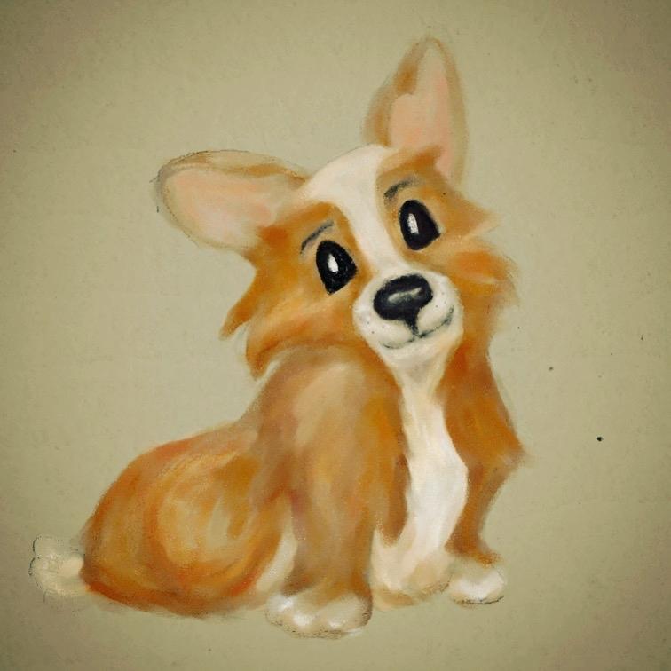 Cute Corgi Puppy Illustration