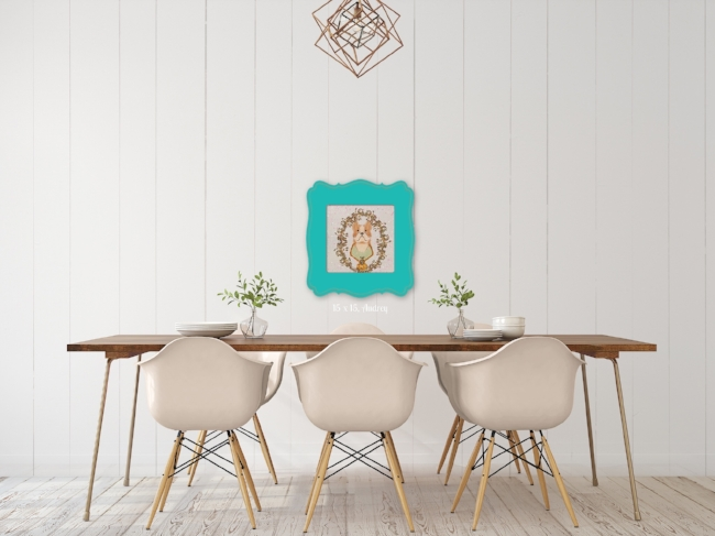 Sgt. Stubby Blue Frame Dining Room Wall Art