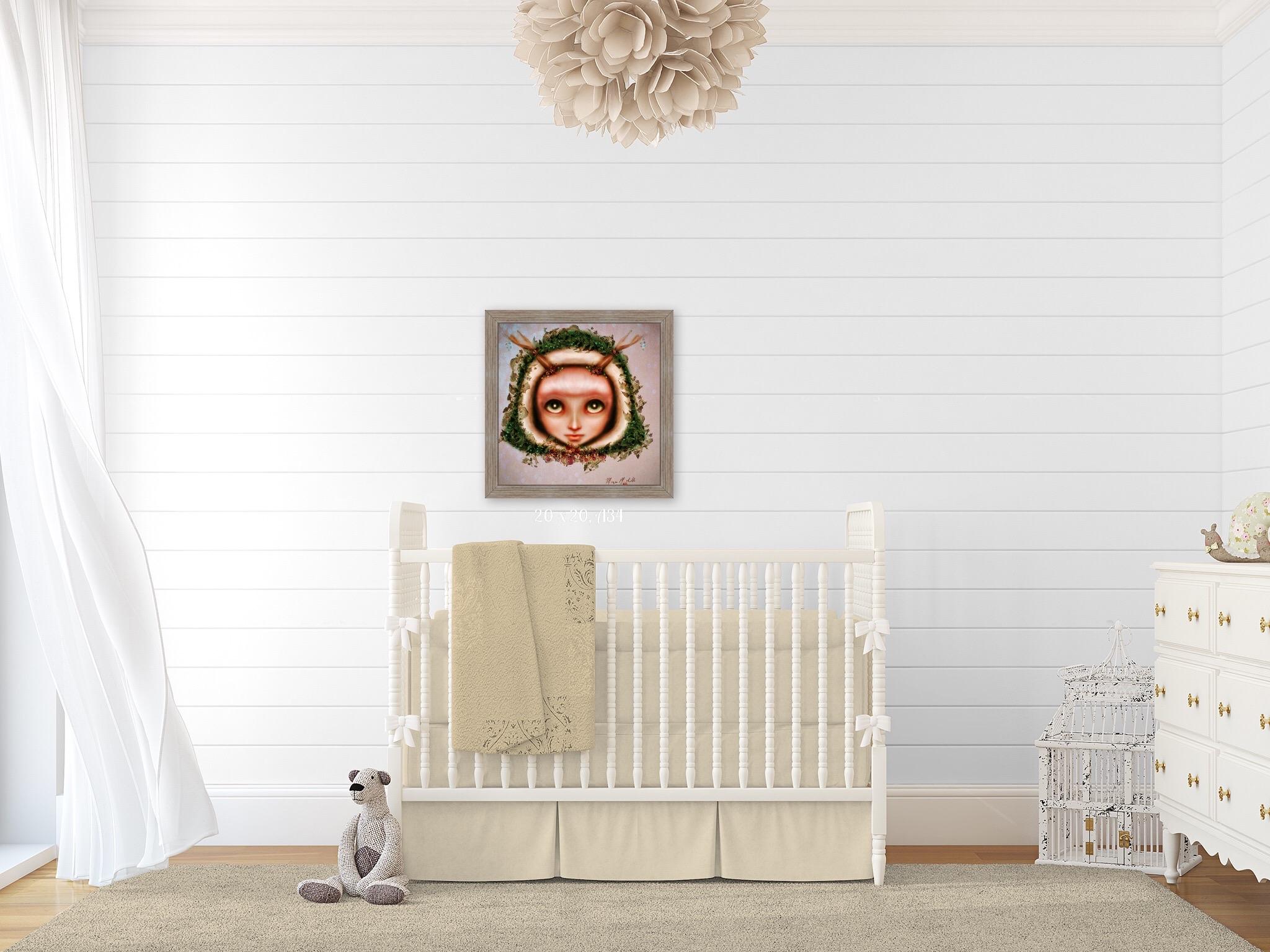 Shiplap Nursery Wall Art Forest Theme
