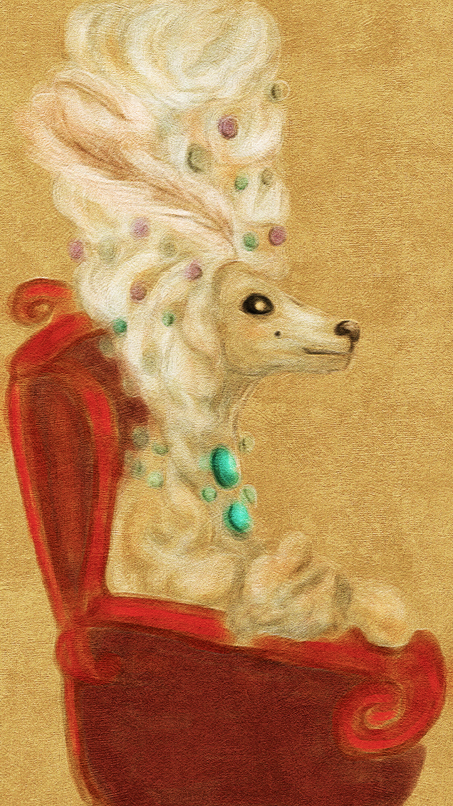 Marie Antoinette Poodle Illustration