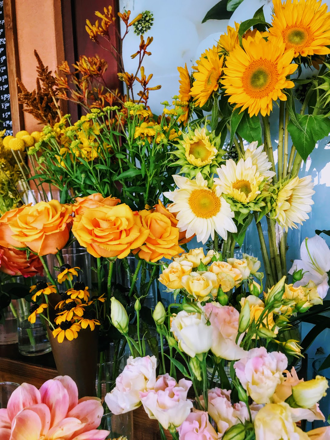 Flower and the B Rockridge Market Hall Flower Shop Sunflowers Bay Area Photographer Monica Michelle