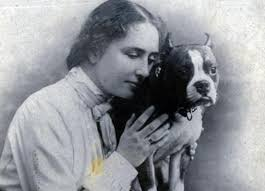 Helen Keller and Dog