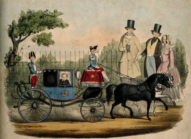 Carriage given to Tom Thumb