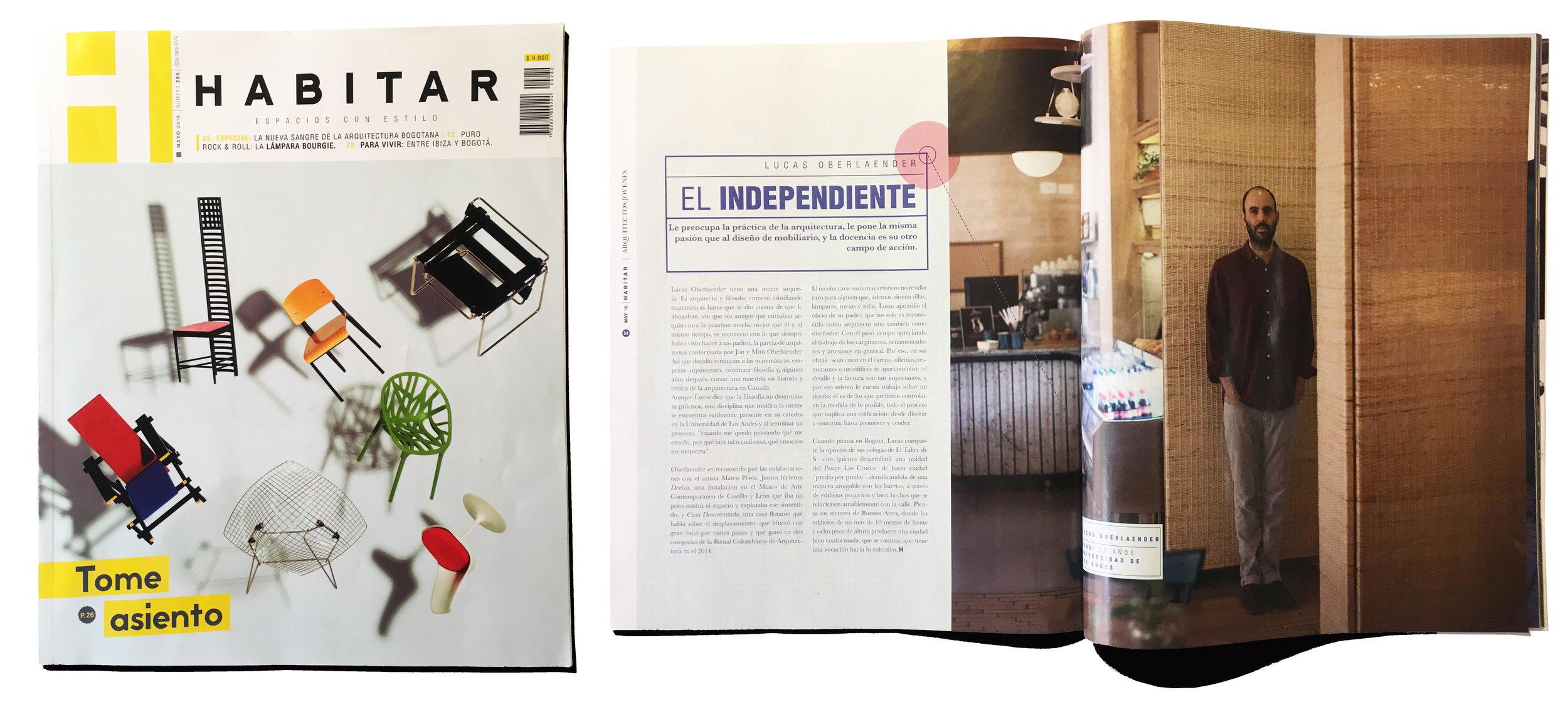 La nueva sangre de la arquitectura bogotana, Revista Habitar   2016