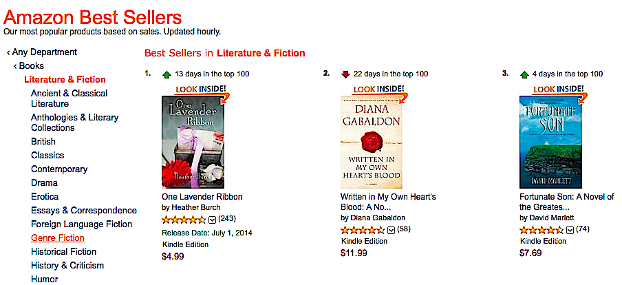 Fortunate Son #3 Best Seller of all Amazon's Literature & Fiction