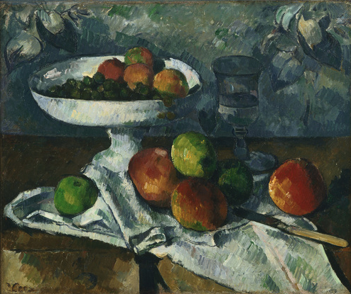 Still life with fruit dish 1879-80 oil on canvas