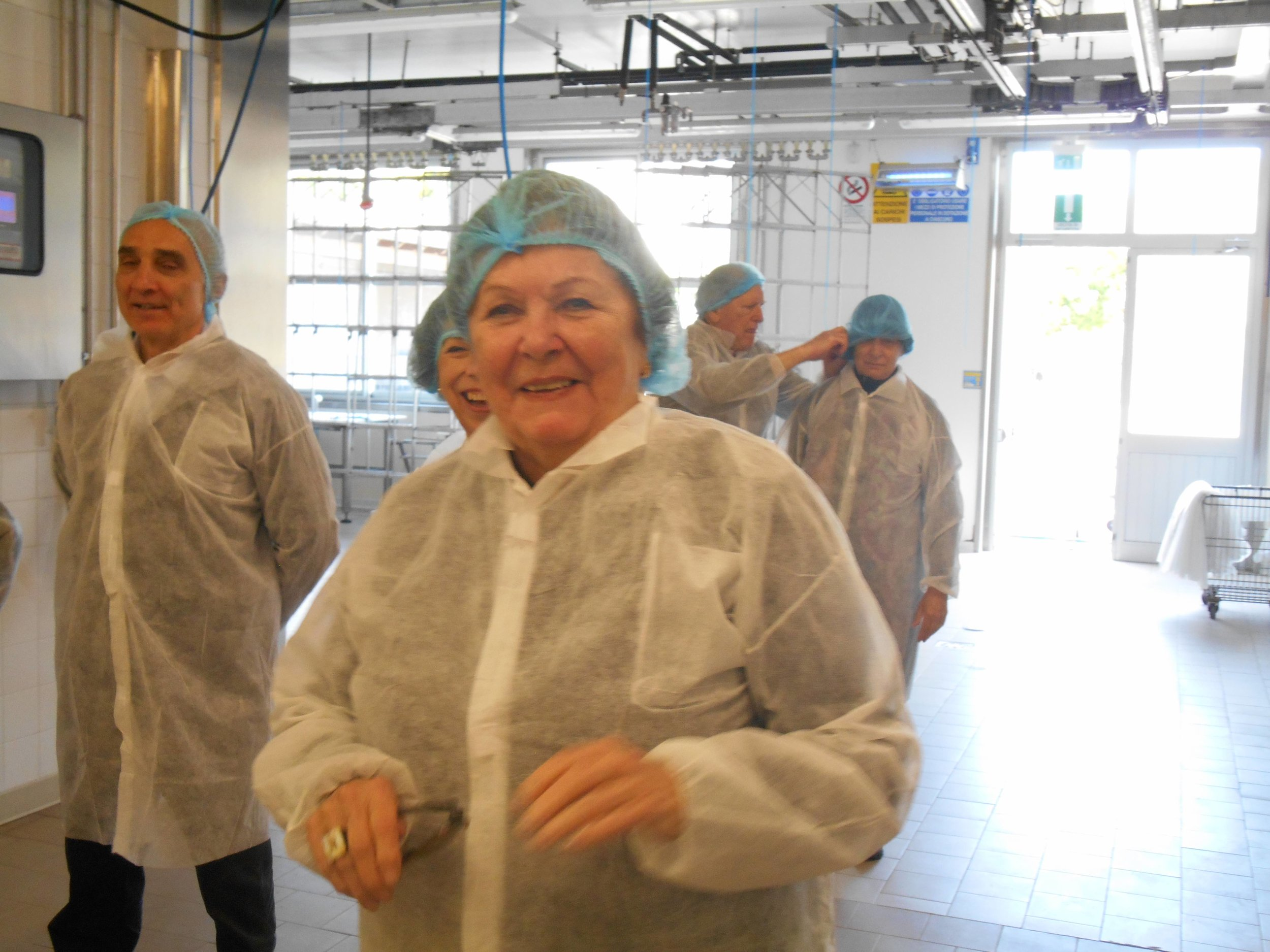 Dressed for the occasion up close and personal to the...cheese and ham and balsamic vinegar tours and more