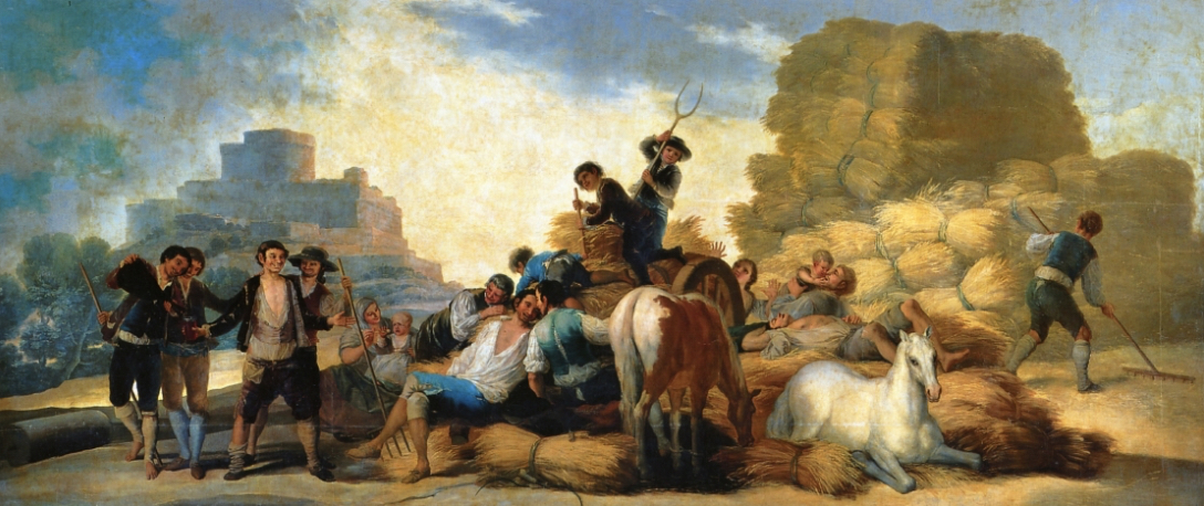 """Goya - Often referred to as the last of the old Masters - a dark artist indeed. 'Summer' or 'The Harvest"""""""