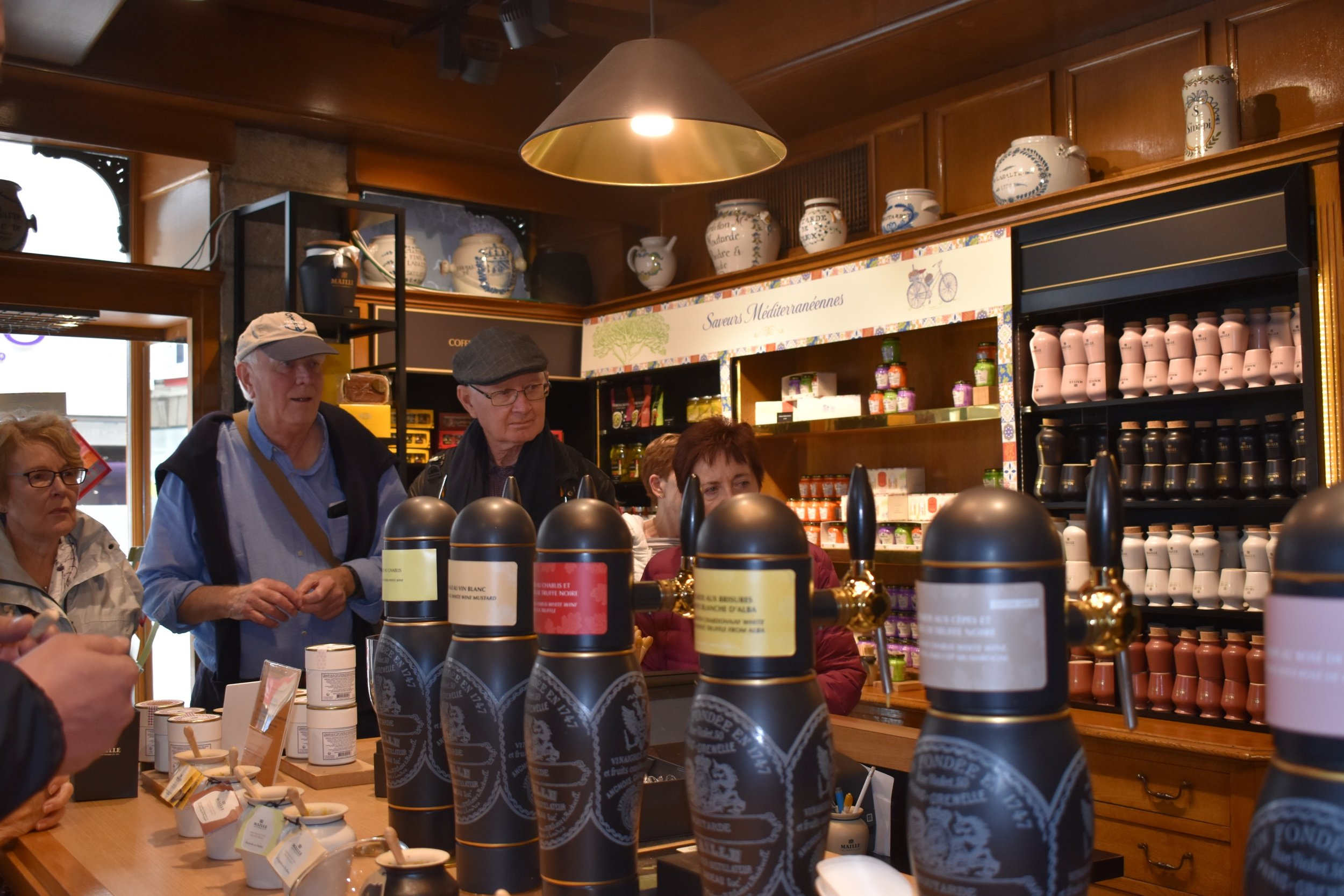 Tasting at the Maille Mustard Venue in Dijon
