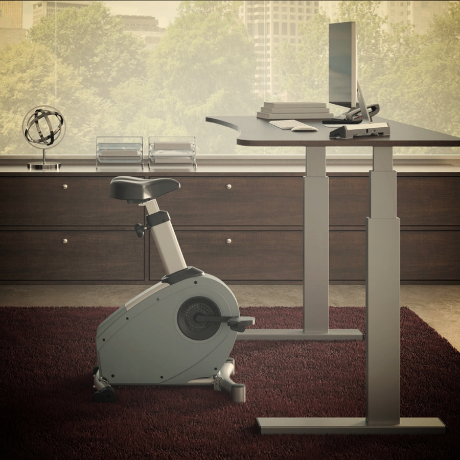 Bike Desks - Bike desks are our latest line of active workstations. Bike desks allow people to sit, but do require more conscious effort from the user, as a pedaling motion is not motorized and therefore not as natural or automatic.