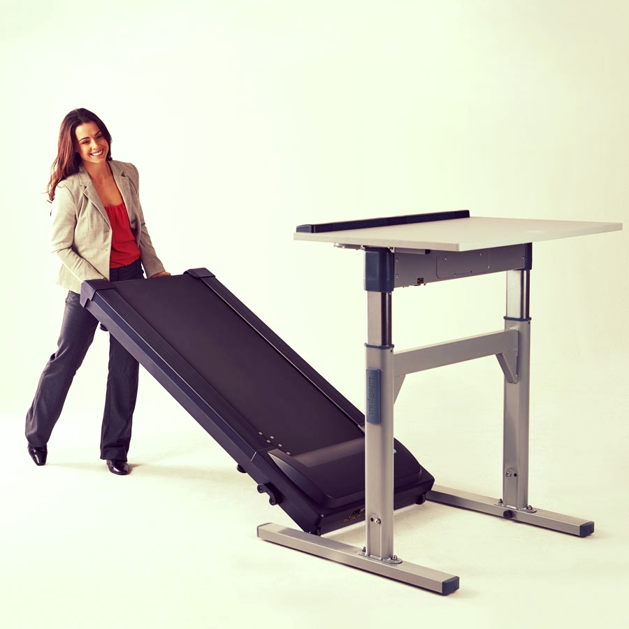 Treadmill Desks - Treadmill desks are our most popular form of active workstations, as walking is very natural and instinctive for most people. The gentle, consistent motorized belt movement makes it easy to become accustom to walking while working.