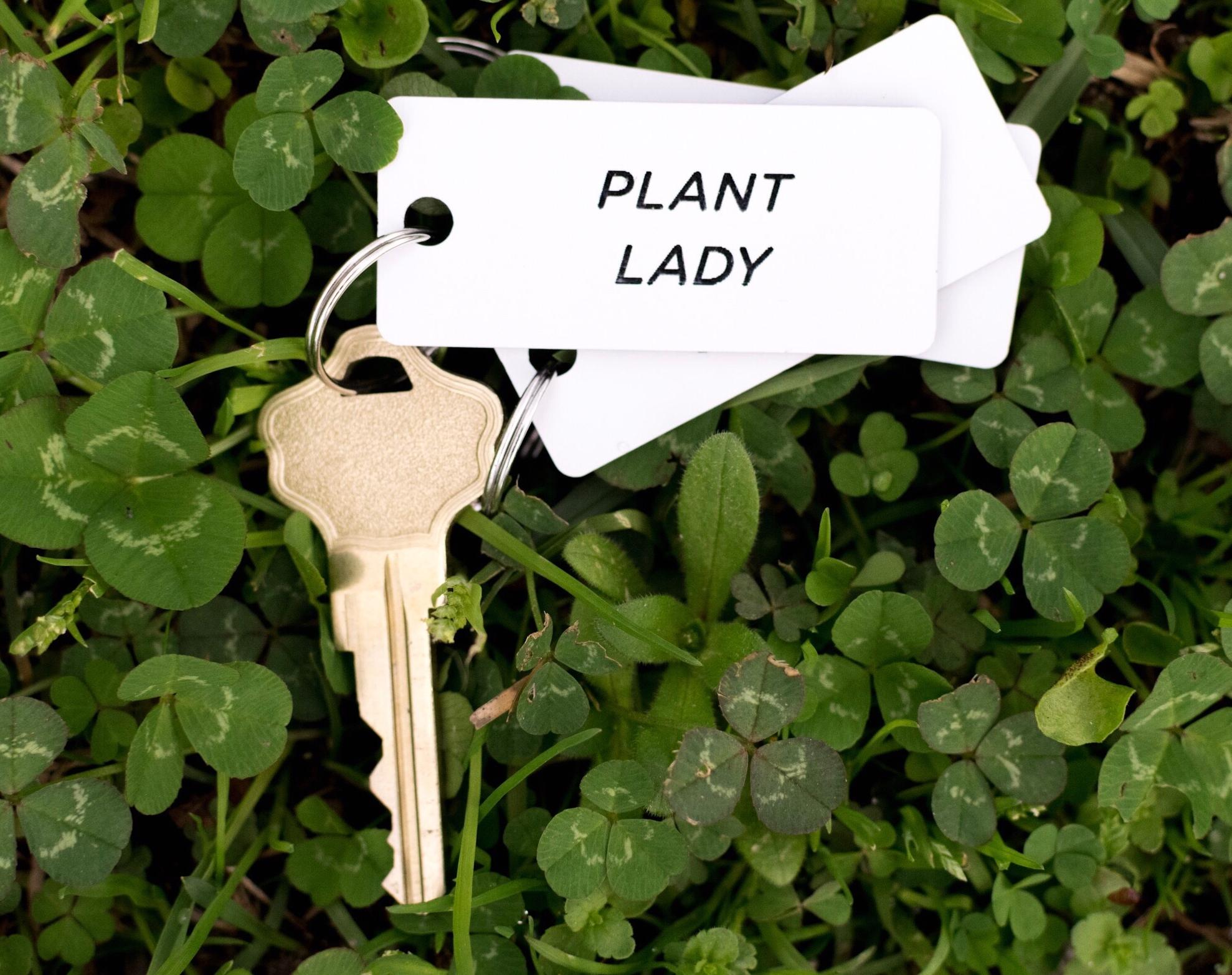 """Plant Lady"" Keychains"