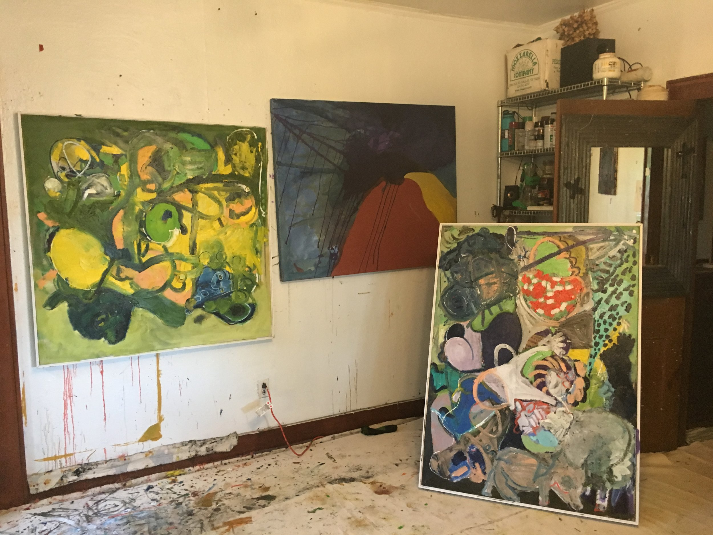 Studio Shot, Hermann Drive, Houston   May 2019  oil on canvas