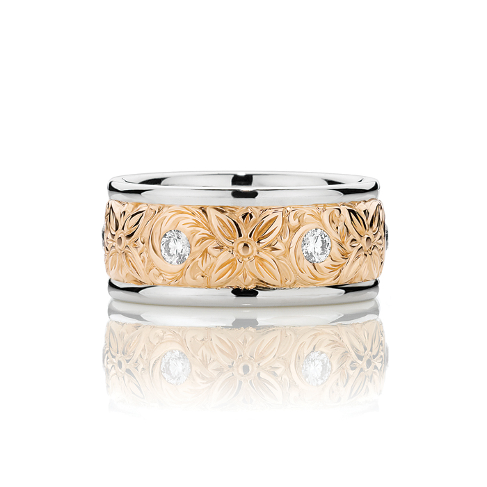 Garden of Delights Wedding Band