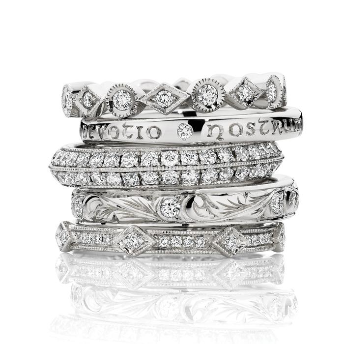 Hand Engraved Diamond Rings
