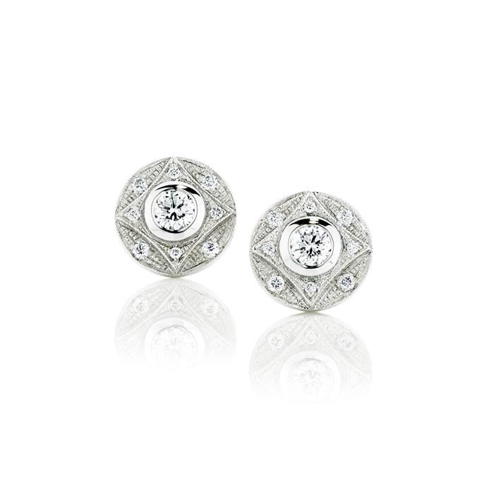 Tzarina Diamond Stud Earrings