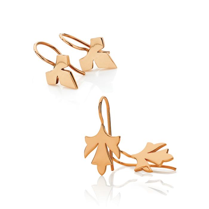 Ivy Leaf & Angel Leaf Earrings