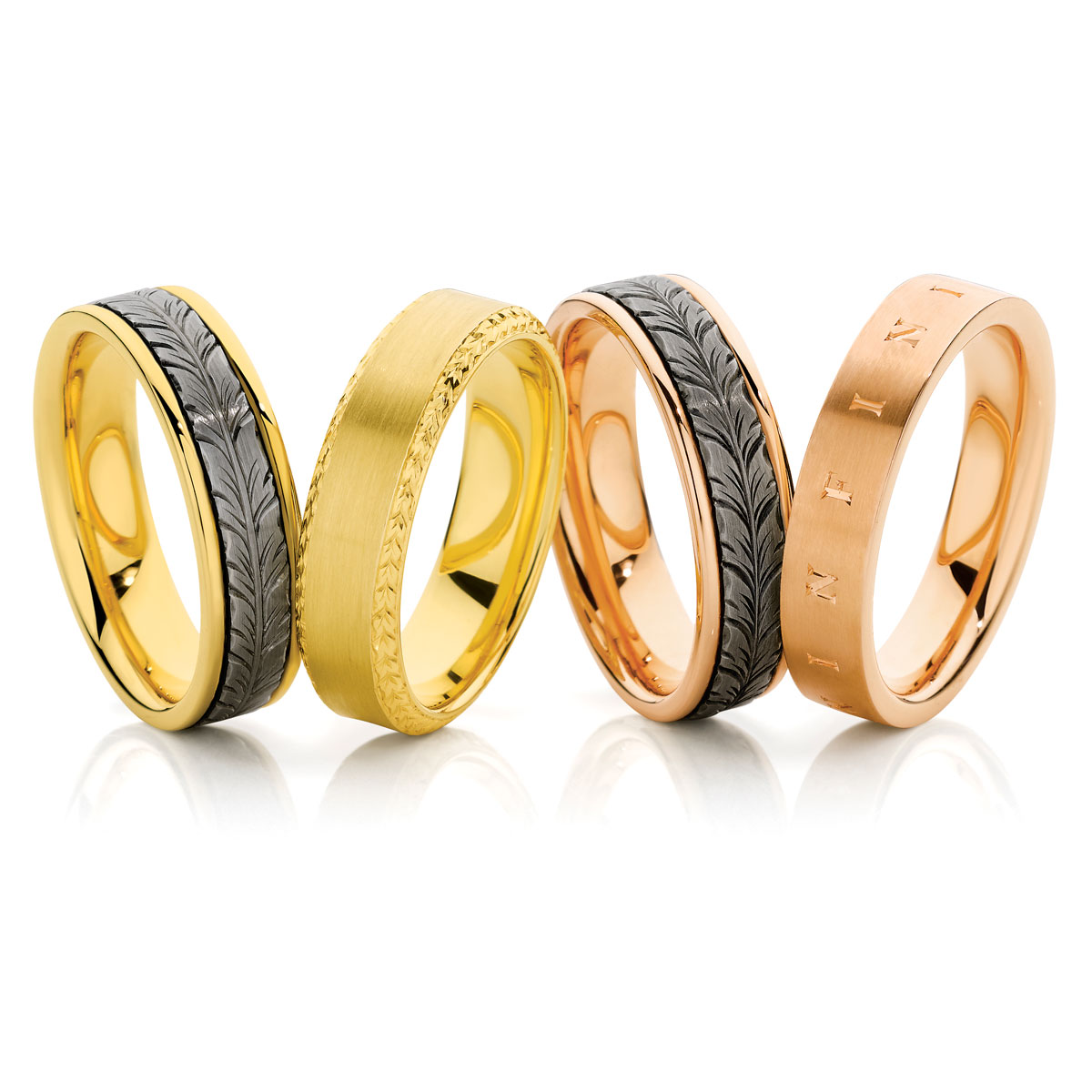 Men's Engraved Wedding Bands