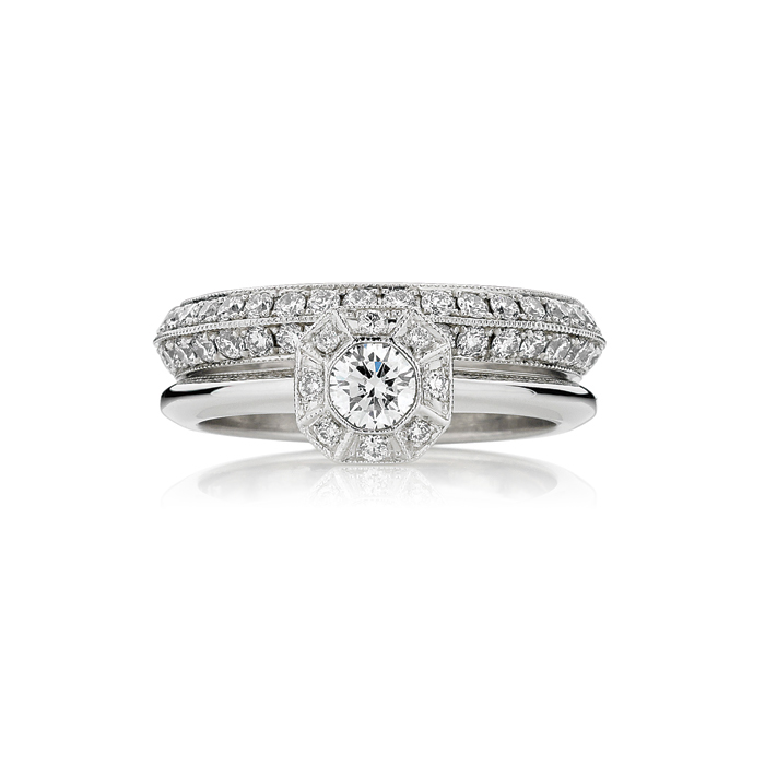 Tatiana Engagement Ring | Silk Road Wedding Band