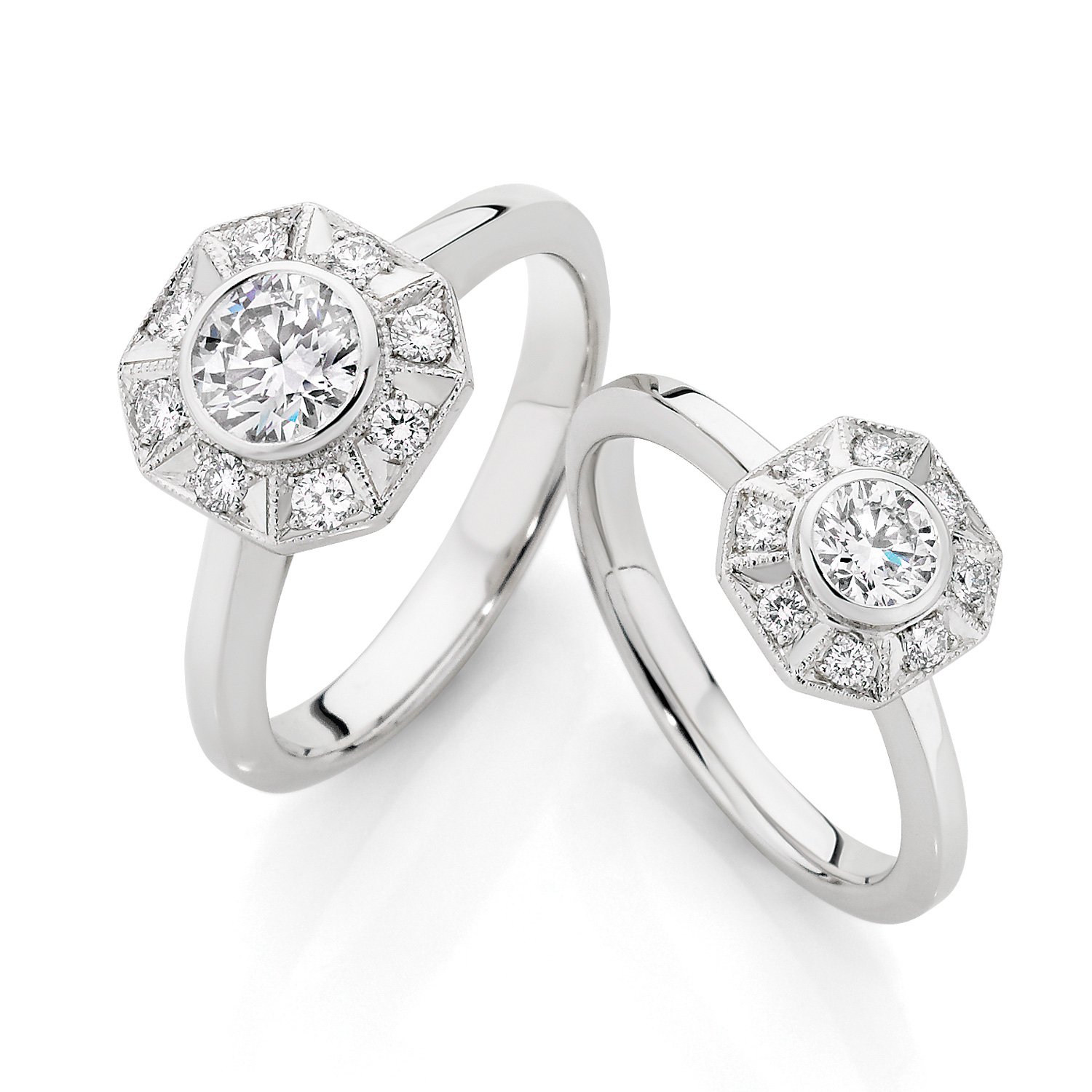 White Gold Tatiana Engagement Rings