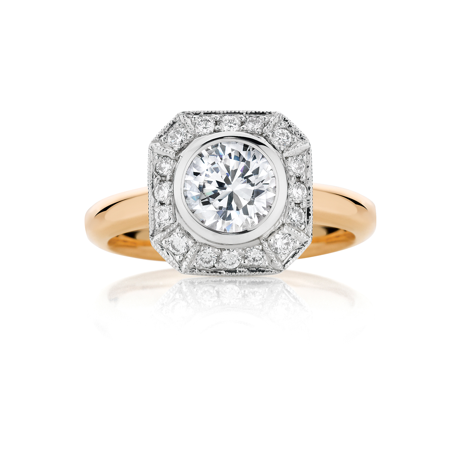 Rose Gold Tatiana Diamond Engagement Ring