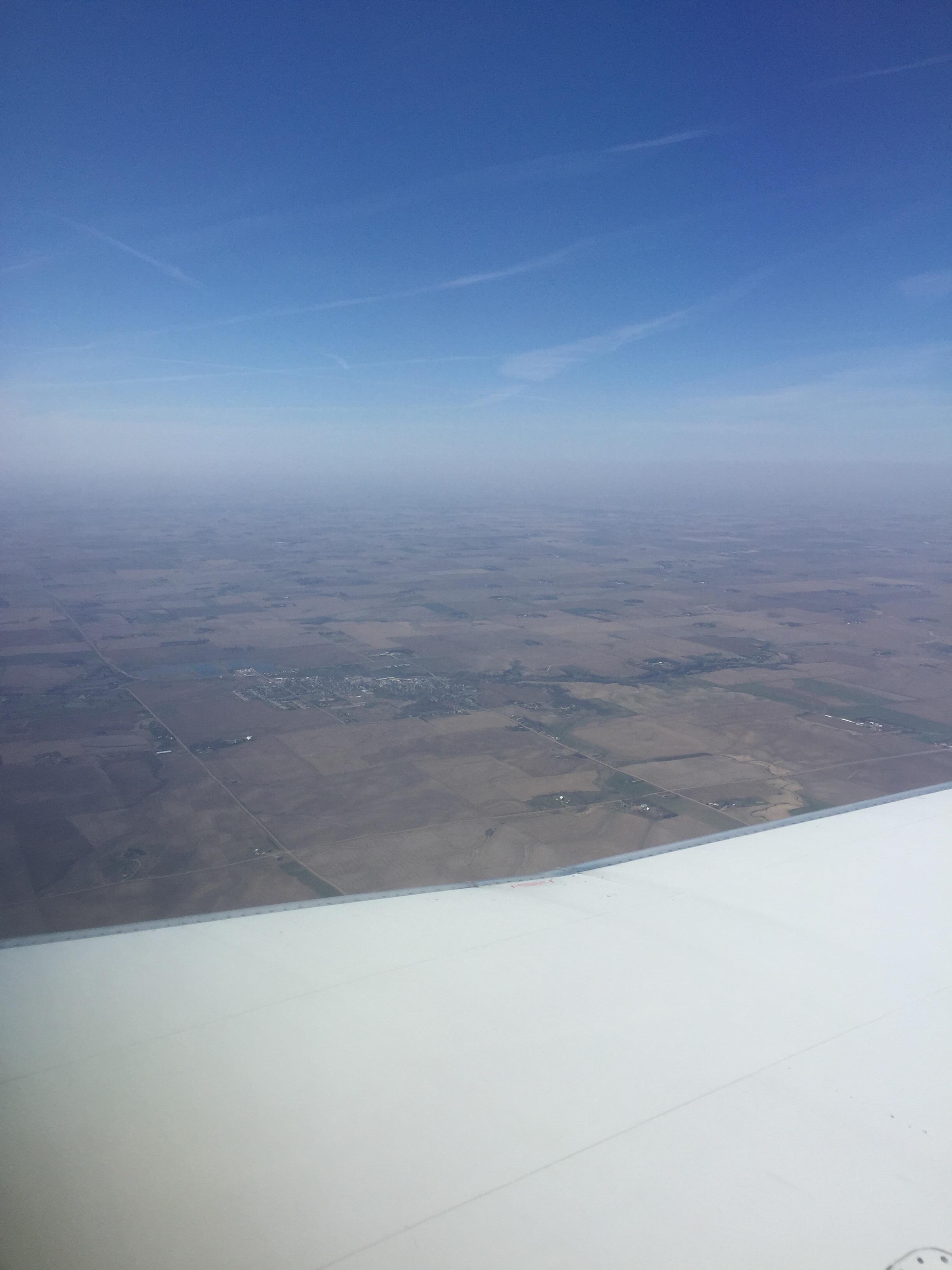 Somewhere over Souix Falls South Dakota