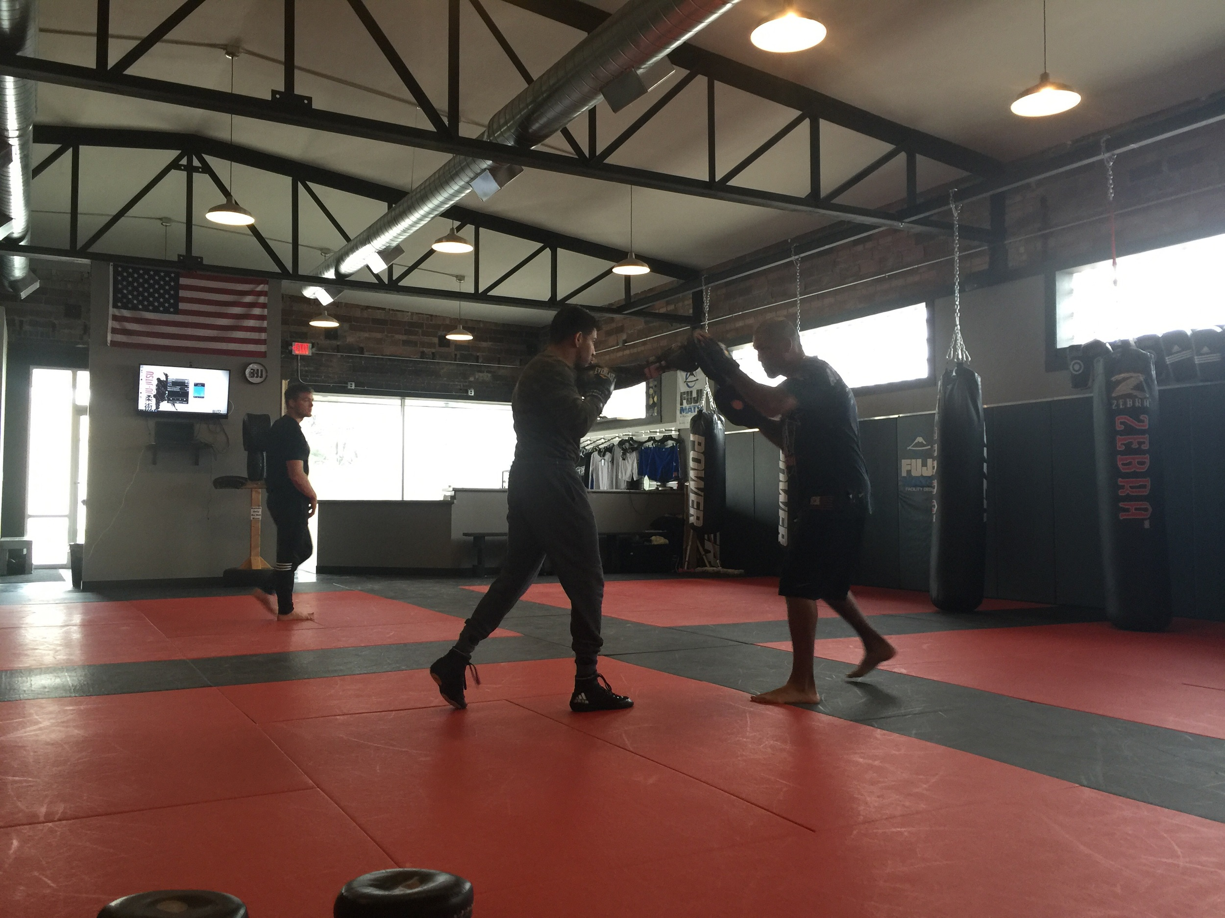Matthew Lopez and Danny Perez working pads