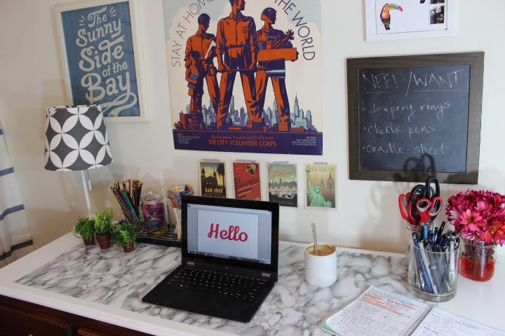 Msb A Bright Easy Desk Makeover Once Future Home