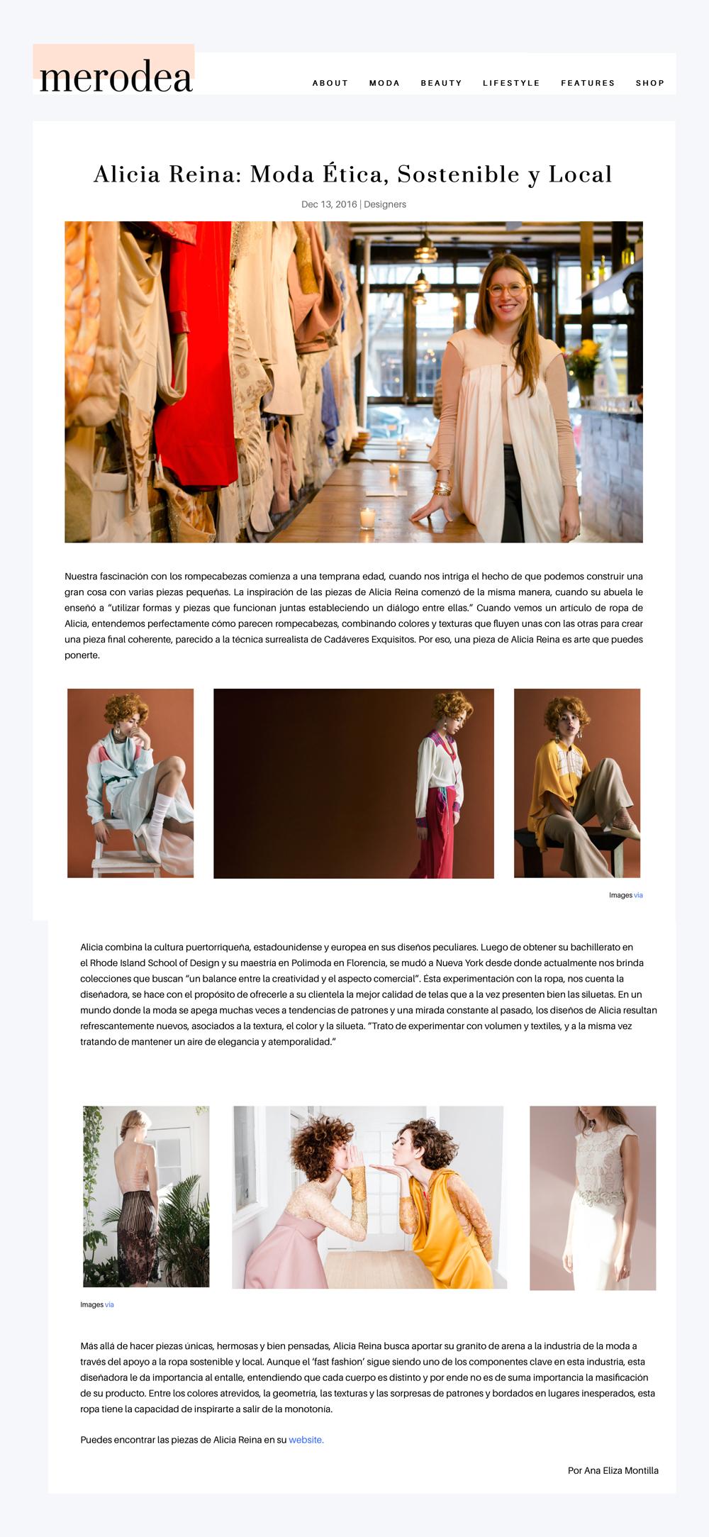 Alicia Reina: Moda Etica, Sostenible y Local