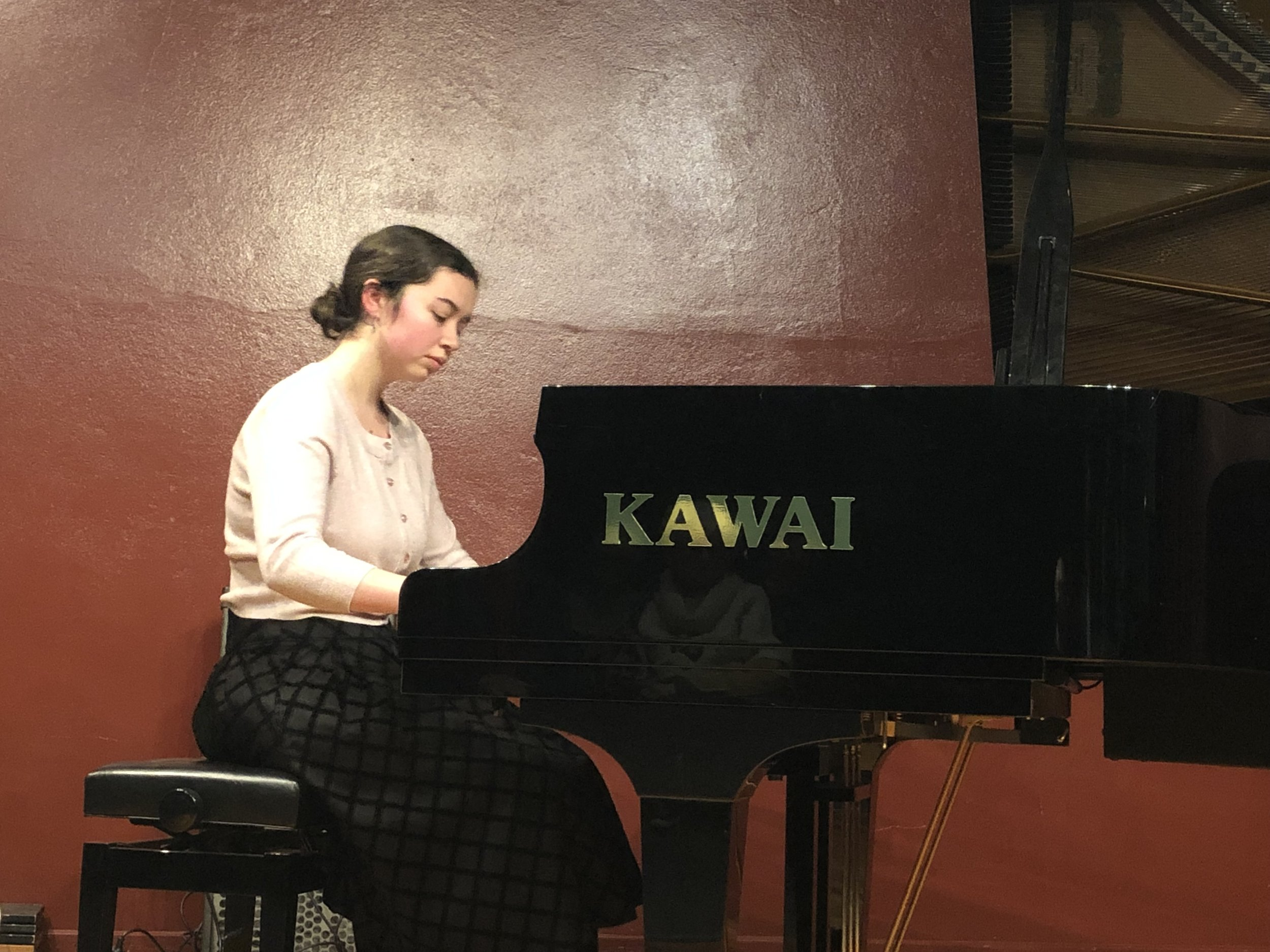 Current Dr Ray King Scholarship holder Jemima Xeros performing at the RCM Gold Scholarship Winners Concert in June 2019.