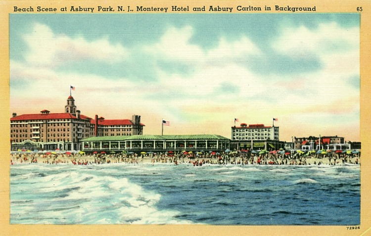The Boardwalk and Beach, Asbury Park