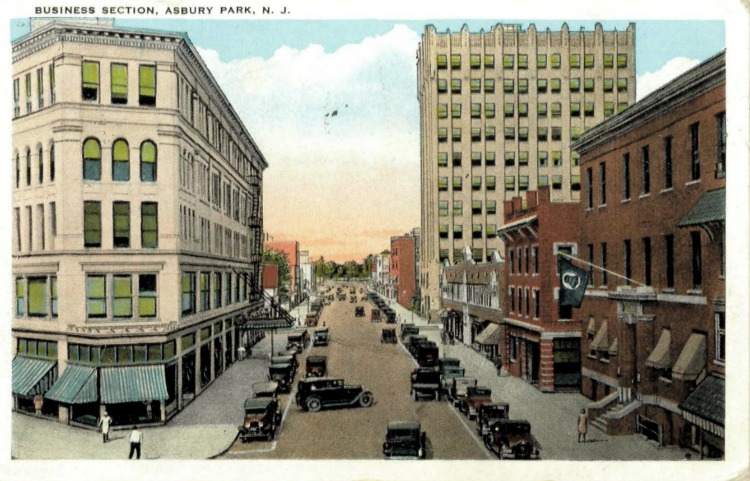 The Business District. Postmarked April 10, 1930.